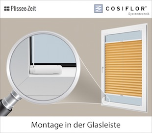 *Plissee Cosiflor VS2 Faltstore Raffrollo Faltenrollo Sonnenschutz