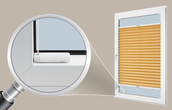 Bekannt Plissee Montage A – in der Glasleiste (Spannschuh) | Plissee-Zeit JV72